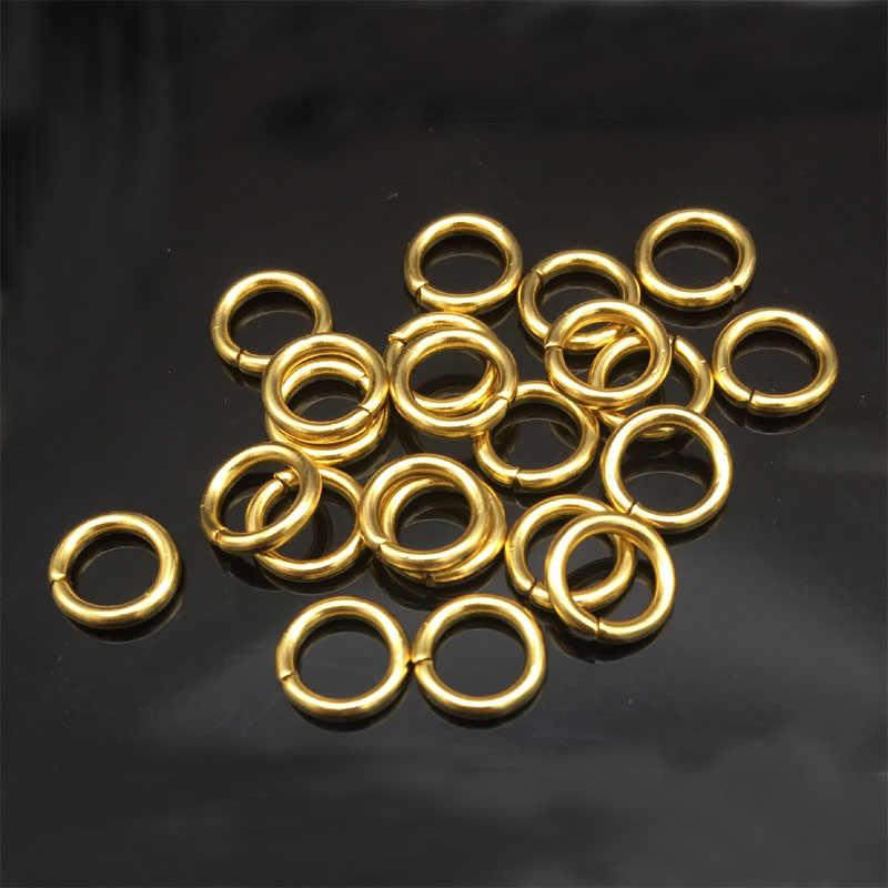 100pcs/Lot Bracelet/Necklace DIY Stainless Steel Gold Jump Rings 4mm/5mm/6mm/7mm/8mm/9mm Findings For Jewelry Making Accessories