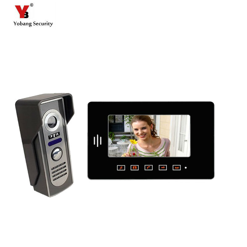 Yobang Security 7 Apartments video intercom system Home Security Monitor door video camera Touch Video Doorbell Phone Intercom yobang security free ship 7 video doorbell camera video intercom system rainproof video door camera home security tft monitor