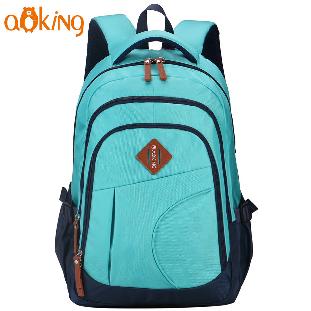 Aoking Large Capacity Casual Daily Backpack College Student Teenage School Backpack Men Stylish Leisure Travel Backpack augur to 15laptop canvas school bags for teenage boys college student computer book bag stylish large capacity travel men bag