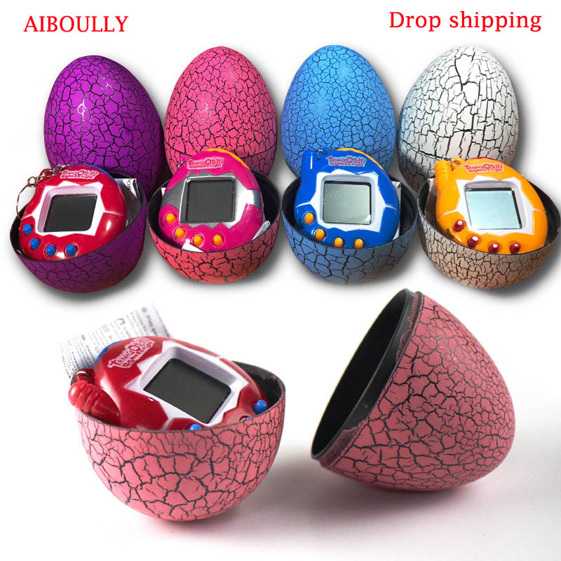 AIBOULLY Random Color Dinosaur Egg Virtual Cyber Digital Pet Game Toy Tamagotchis Digital Electronic E-Pet Christmas Gift