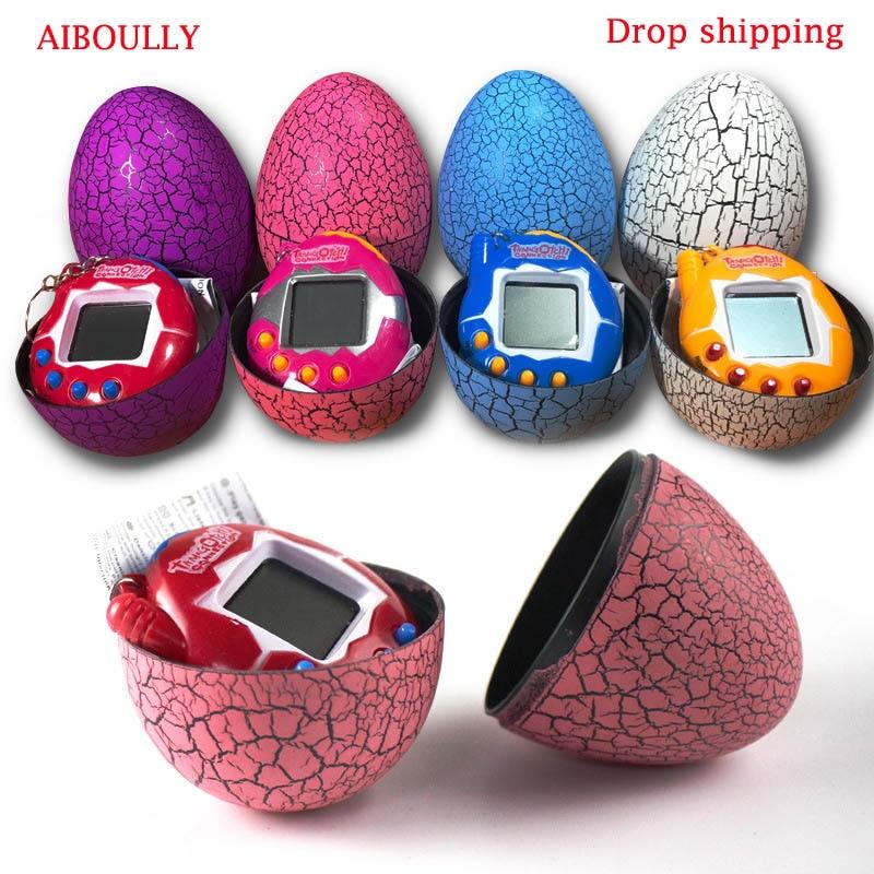 AIBOULLY Random Color Dinosaur Egg Virtual Cyber Digital Pet Game Toy Tamagotchis Digital Electronic E-Pet Christmas Gift