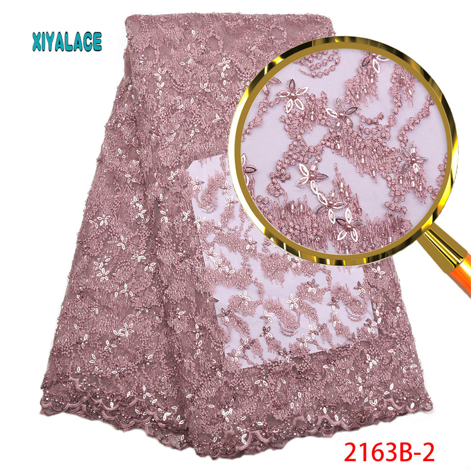 Luxury Lace Fabric Latest African Lace Fabric High Quality Handmade Beads Embroidery Bridal Wedding Lace Fabric