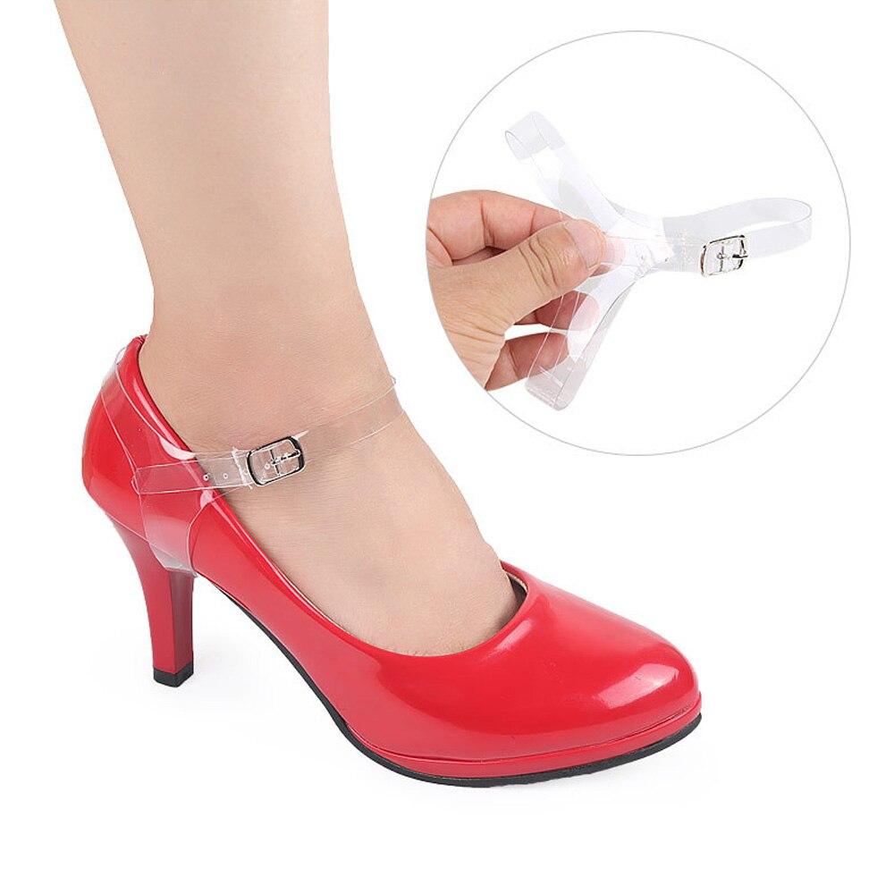 1 Paar Frauen Abnehmbare Tpu Unsichtbare Schuh Straps Schnürsenkel, Dame High Heels Anti-lose Schnürsenkel Zubehör Mit Schnalle Moderater Preis