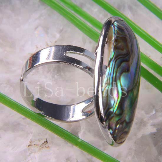 1Pcs Free Shipping Fashion Jewelry New Zealand Abalone Shell Ring Adjustable Z102