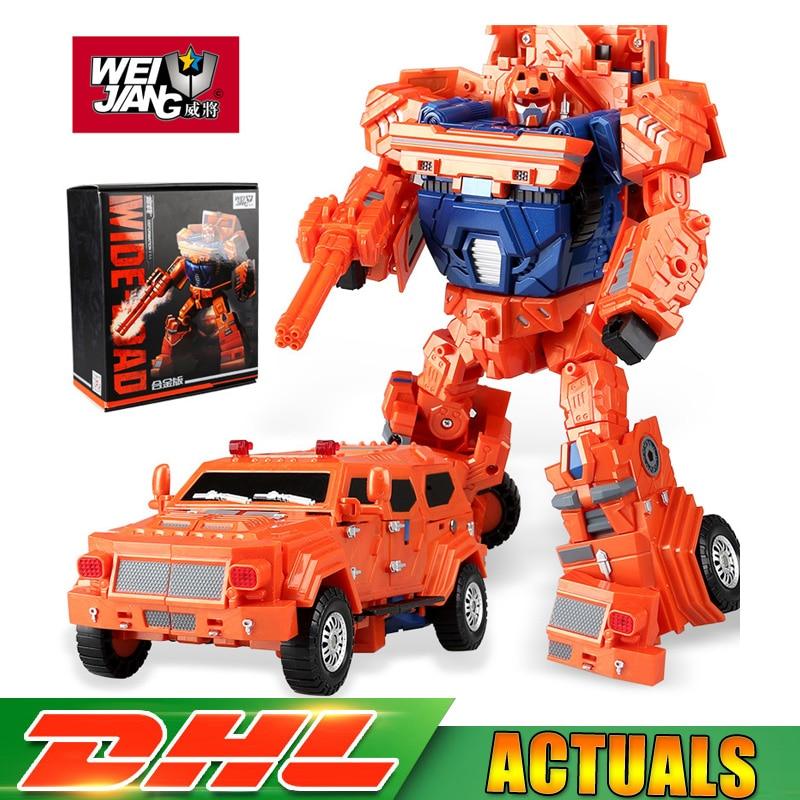 WJ WEI JIANG Transformation Sideload Wei Jiang Metal Part Oversize Throttlebots Sideload Wideload Figure Model Toys Gifts wei 500g