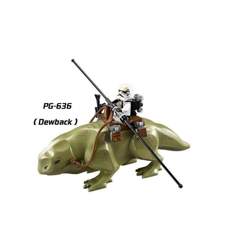 Single Sale Legoe Star Series Space War Blocks Dewback Desert Storm Soldiers Jabba The Hutt Rancor Building Toy Minifigured Gift