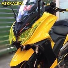 MTKRACING For KYMCO AK550 AK 550 2017-2018 Motorcycle Acrylic Headlight protection screen shot lens