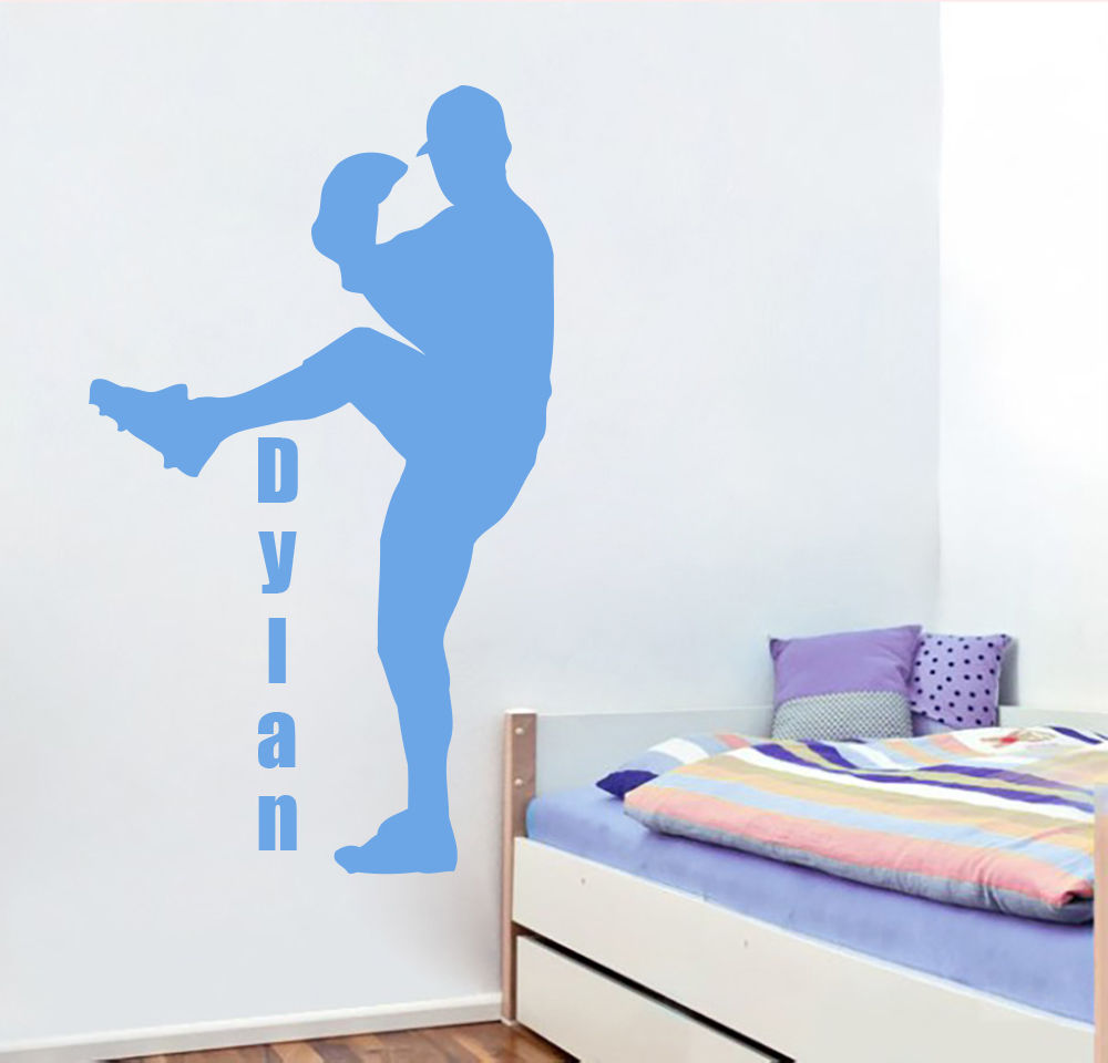 online get cheap boys baseball room aliexpress com alibaba group personalized name wall decals sport decal baseball boys room nursery decor china