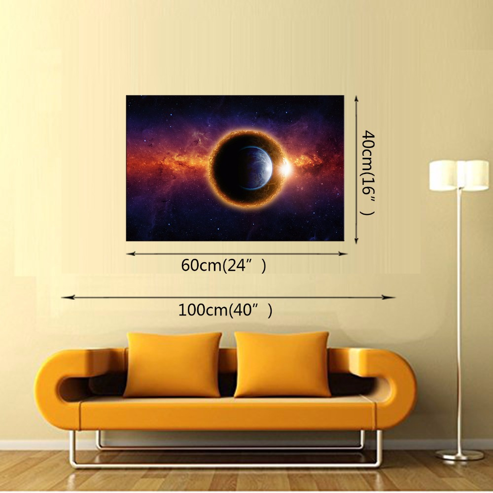 1 Panel Outer Space Mars Planet Modern Home Wall Decor Painting ...