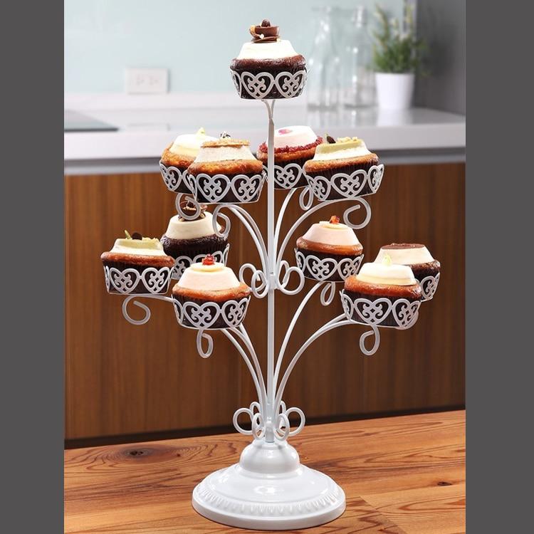 Bébé douche fête de mariage multi-cupcake Dessert présentoir Muffin cupcake Stand fer support de gâteau affichage