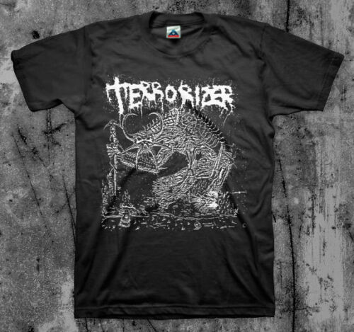 Terrorizer '1987' T Shirt (Napalm Death Repulsion Ent Brutal Truth Autopsy) Fashion Brand Street Hip Hop Fitness Irish T Shirts image