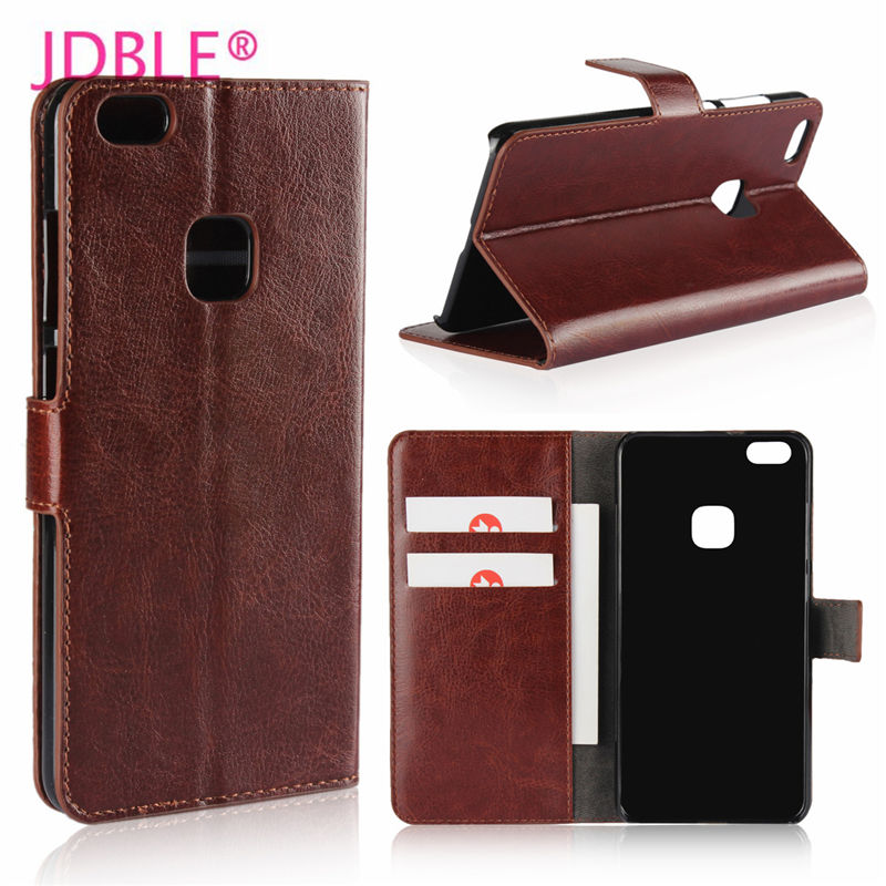 JDBLE Barnd New PU Leather Flip Cases For HUAWIE P8 P8lite P9 P9lite Business Cover For P10 P10Lite P10 Plus Wallet Phone Capa