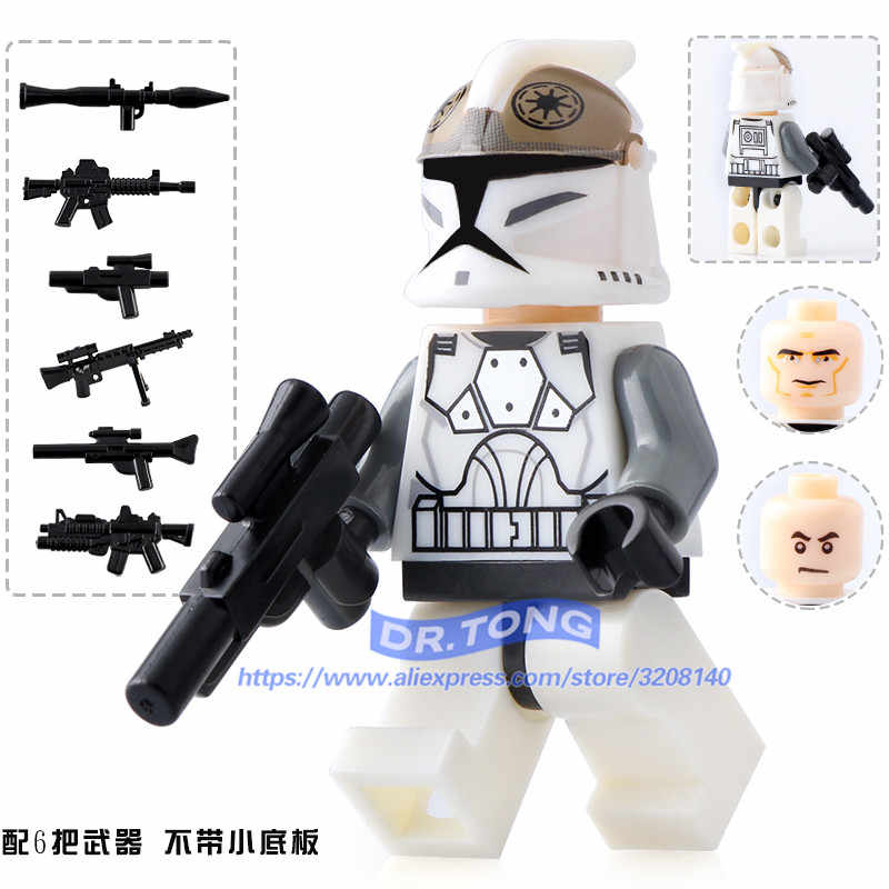 DR TONG 1PC Single Sale Star Wars Clone Trooper Figures