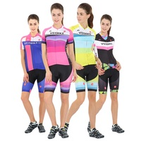 NEW Ms professional team riding Short sleeve suit MTB mountain road ice breathable quick drying bike clothes pants Pink cheap