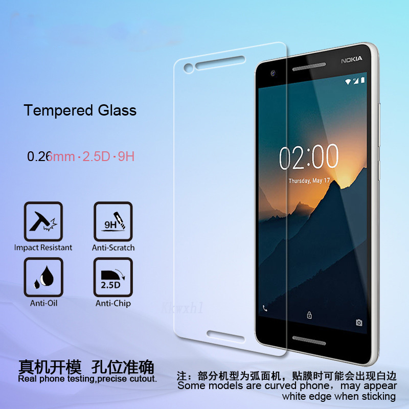 2pcs Tempered Glass for <font><b>Nokia</b></font> 2.1 3 <font><b>3.1</b></font> 5.1 6.1 Plus X5 X6 Explosion-proof Protective Film <font><b>Screen</b></font> <font><b>Protector</b></font> image