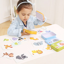 32pcs Baby Cognition Jigsaw Puzzle Card Early Educational Games Puzzles learning toys For Children Matching Game Puzzle For Kids цены онлайн