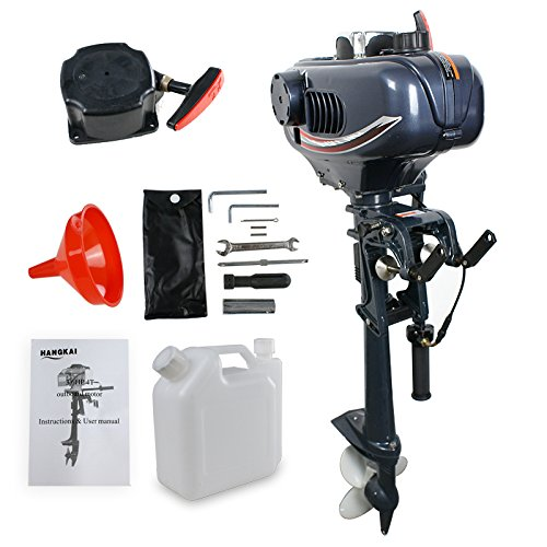 Exclusive Sale Brand New HANGKAI 2 Stroke Black 3.5HP hangkai boat motor outboard motor dropshipping-in Boat Engine from Automobiles & Motorcycles    1