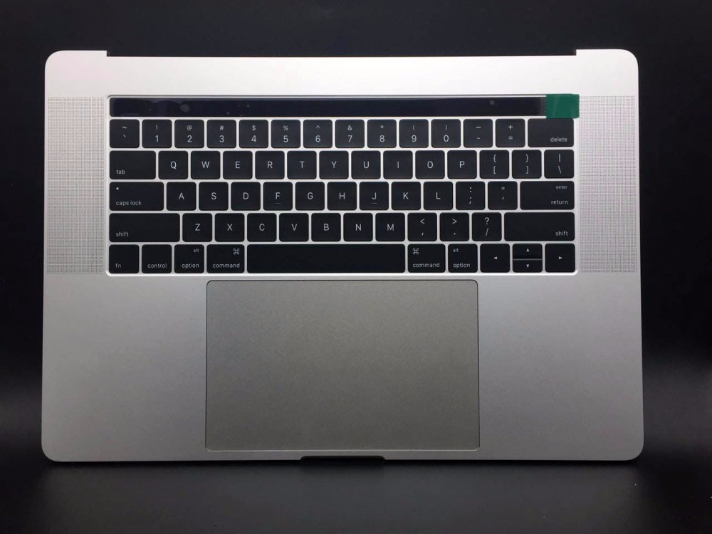 все цены на New Silver Topcase For Macbook Pro A1707 15.4'' Palmrest Keyboard with Touchpad and Battery онлайн