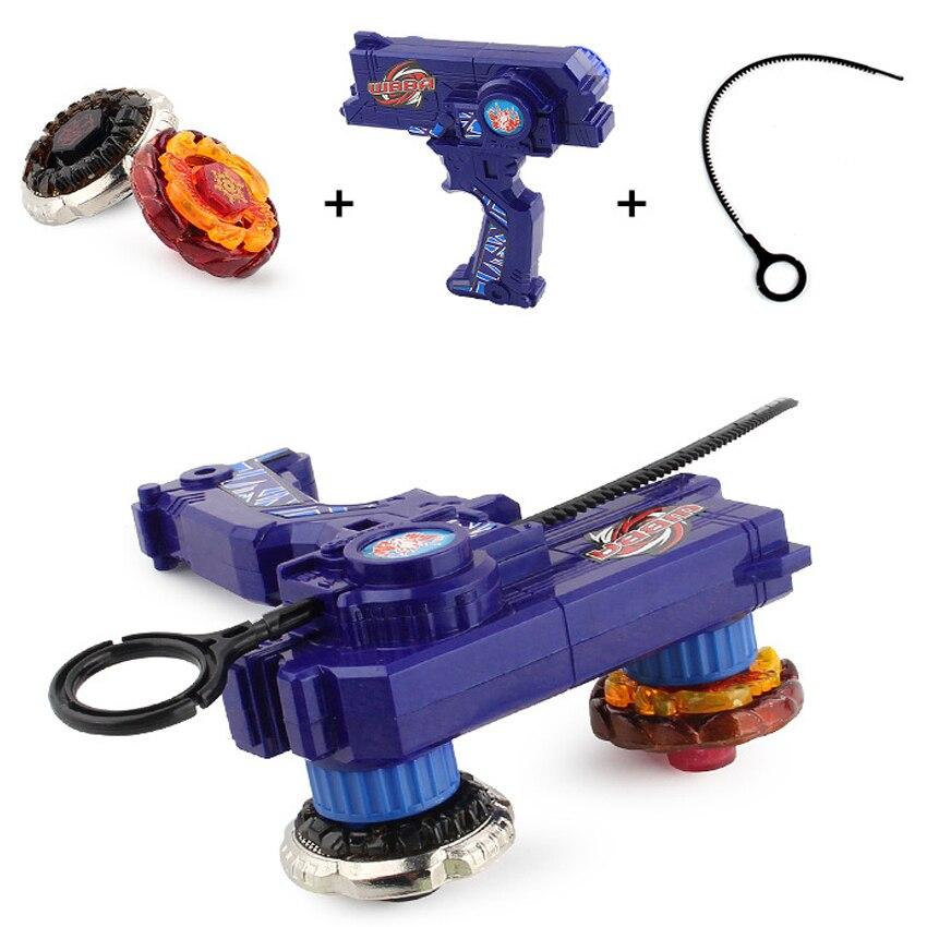 Beyblade Metal fusión juguetes para venta Beyblades Spinning Tops conjunto de juguete Bey blade juguete con doble lanzadores spinner de mano de Metal Tops