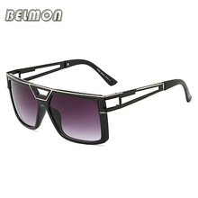 BELMON Fashion Sunglasses Men Women 2018 Luxury Brand Designer Square Sun Glasses For Male Ladies Gradient UV400 Oculos RS818