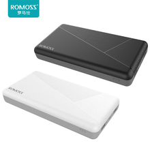 Original ROMOSS PIE 20 20000mAh Portable Power Bank External Battery Dual USB Portable Charger Poverbank for Phone/Tablets
