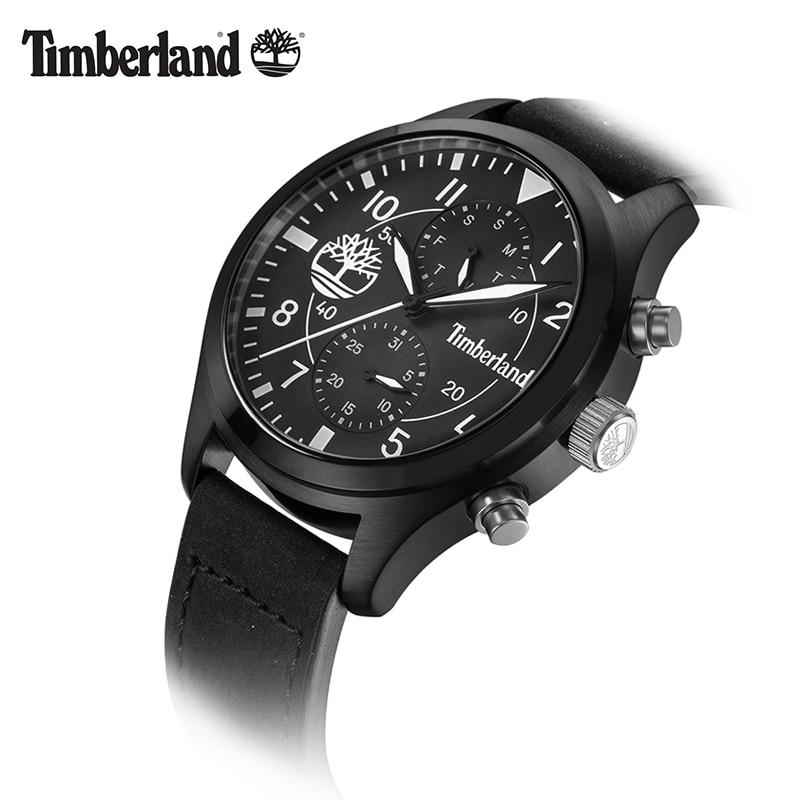 Timberland Original Mens Watches Leather Quartz Multifunction Calendar Week Men's Watches Waterproof T14322