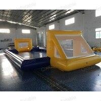 Guangzhou Qinda inflatable football field,football stadium, inflatable soccer stadium for adults