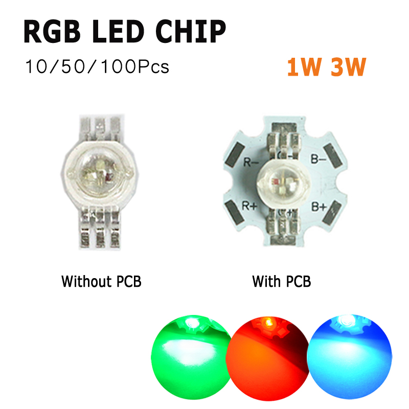 1W watts High Power SMD COB LED Chip Lights Beads White Red Yellow RGB With PCB