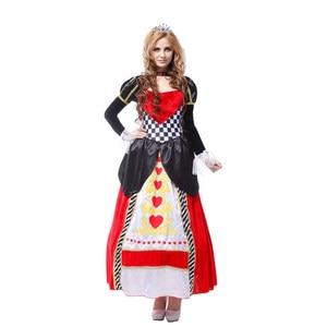 Image 5 - Grande taille alice au pays des merveilles reine de cœurs costumes pour femmes costume Sexy Royal Cosplay vêtements femmes Halloween déguisements