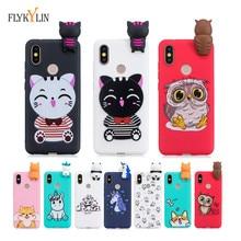 Mi 6X Silicon case on for Xiaomi sFor coque A2 3D Cartoon Unicorn Panda Soft TPU phone cases Bag Shell
