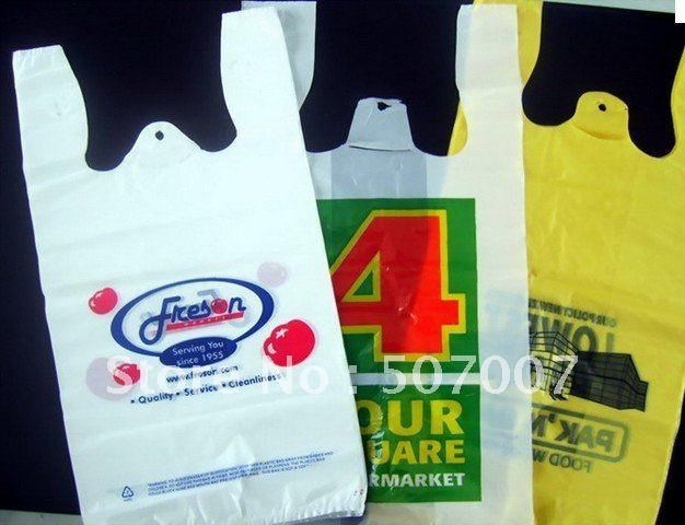Online Shop wholesale Plastic bags with logo free custom LOGO ...