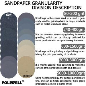 Image 3 - POLIWELL 4 pièces 280x230mm feuilles de ponçage imperméables haute Performance papier de verre humide et sec pour le polissage de voiture de meubles en bois en métal
