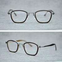 Brand Vintage Square Clear Lens Glasses Frame Men Women Titanium Acetate Retro Eyeglasses Man Optical Spectacles Frames Eyewear
