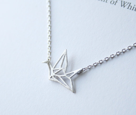 8274d5f4b79fa US $7.99 |5PCS Fashion Origami Crane Necklace Paper Crane Necklace Tiny  Little Swallow Baby Bird Necklaces Jewelry for women-in Pendant Necklaces  from ...