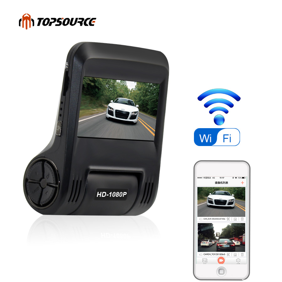 TOPSOURCE WiFi Car DVR Camera 96658 IMX 323 FHD 1080P Dash Cam Digital Video Recorder Night Version Camcorder DVRs Registrator, цена и фото