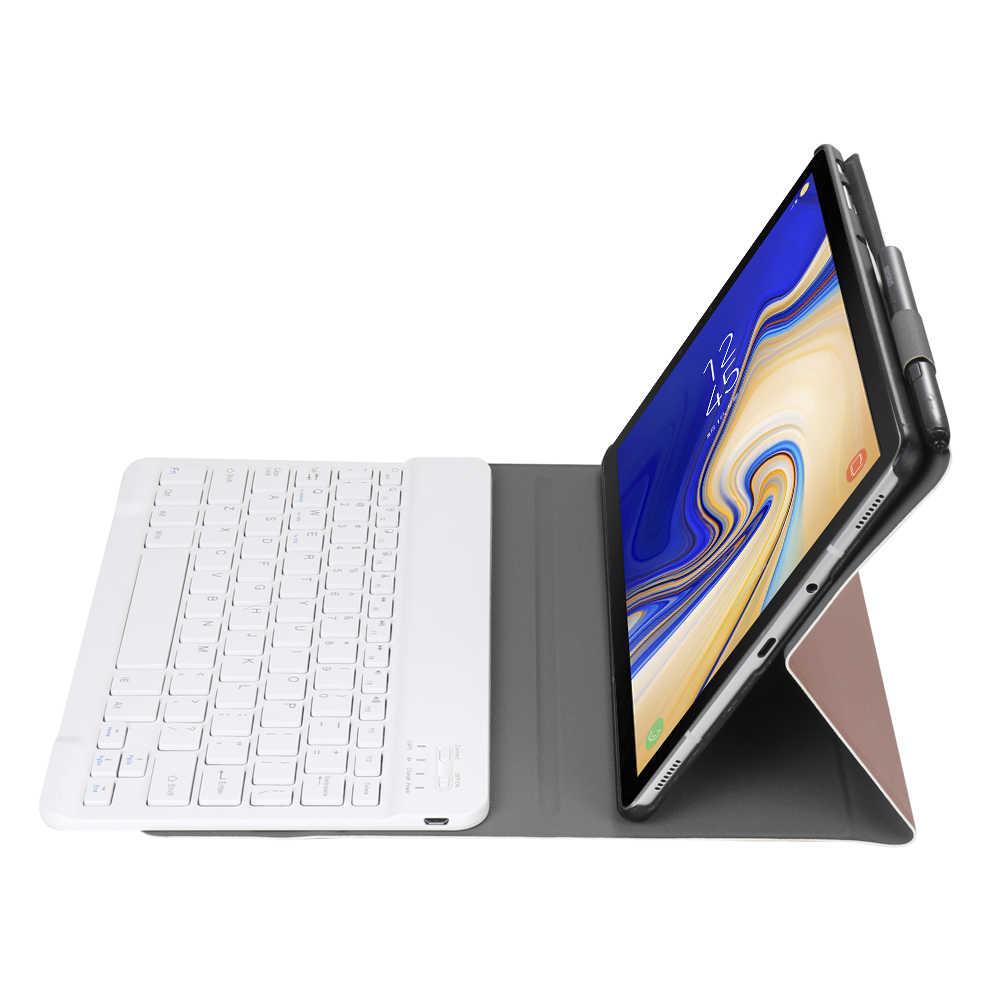 Съемная клавиатура Bluetooth кожаный чехол для Samsung Galaxy Tab A A2 10,5 2018 T590 T595 SM-T590 чехол Funda с карандашница