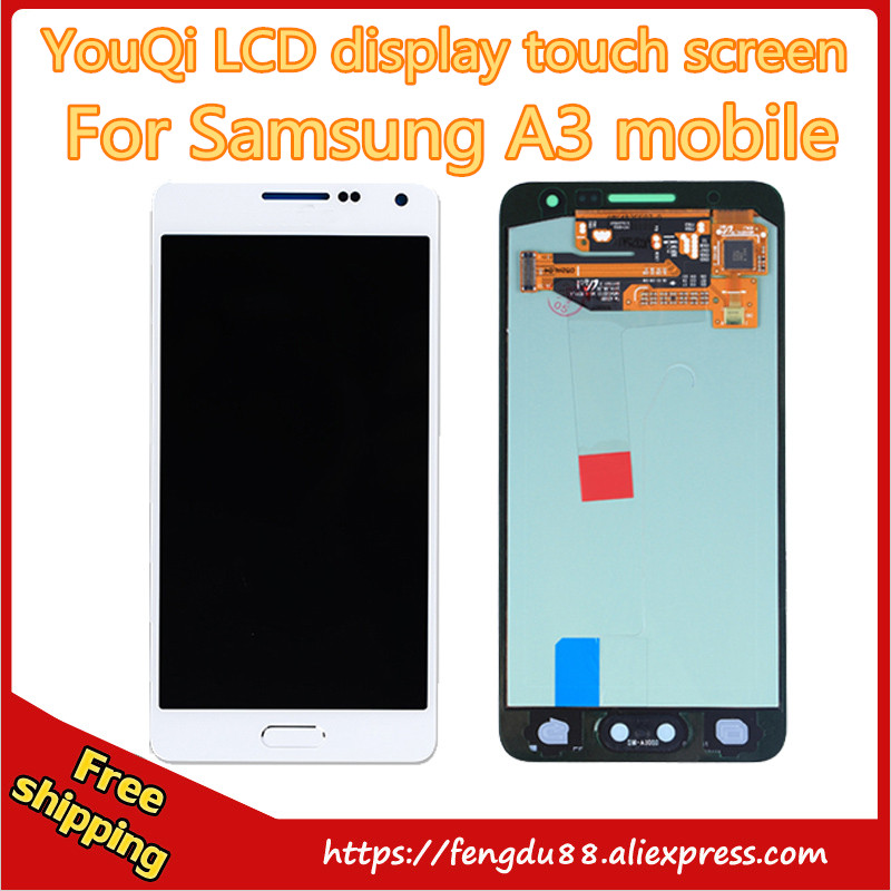5 Pcs 100% Original LCD Replacement for Samsung Galaxy A3 A300 A3000 LCD Display Touch Screen Digitizer Screen Free shipping