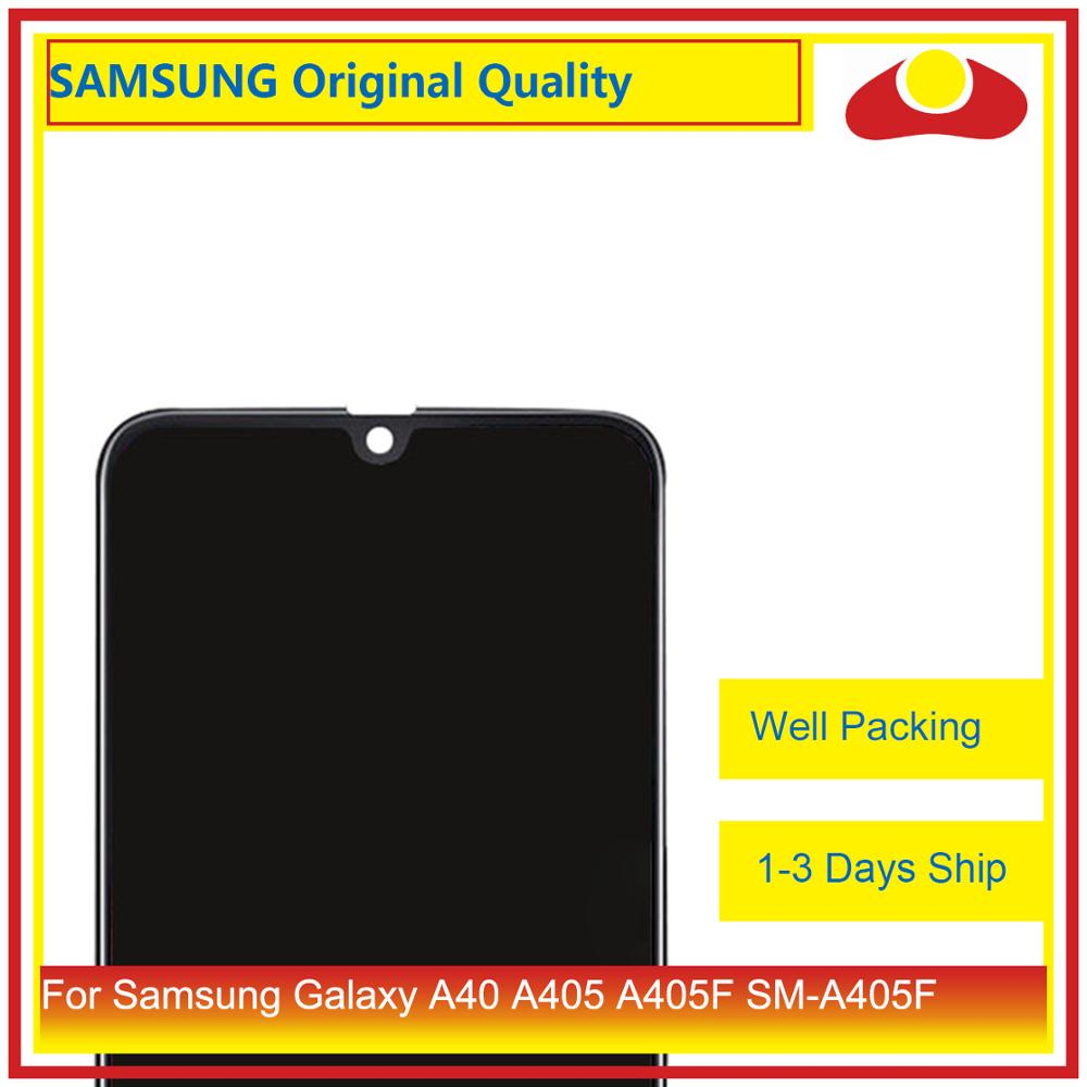 Image 2 - 10Pcs/lot DHL Original For Samsung Galaxy A40 A405 A405F LCD Display With Touch Screen Digitizer Panel Pantalla Complete New-in Mobile Phone LCD Screens from Cellphones & Telecommunications