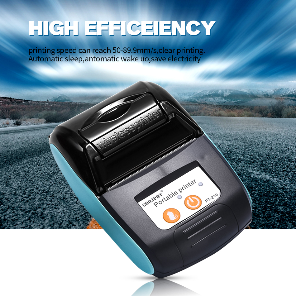 Free App 58mm 2 inch Mini Taxi Bluetooth Thermal Printer Mini Receipt Ticket Portable Printer for