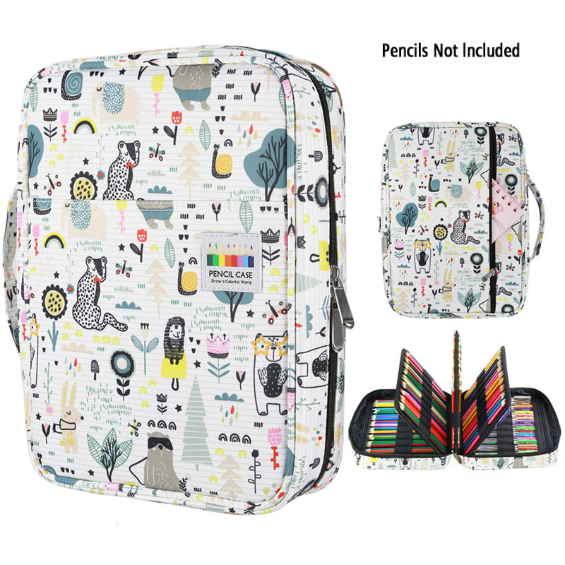 216 Slots Large Capacity Pencil Bag Case Organizer Cosmetic Bag For Colored Pencil Watercolor Pen Markers Gel Pens Great Gifts-in Pencil Bags from Office & School Supplies
