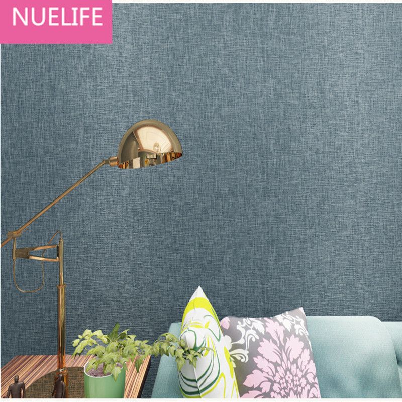 0.53x10m minimalist linen solid color wallpaper study room living room bedroom television background wall non - woven wallpaper