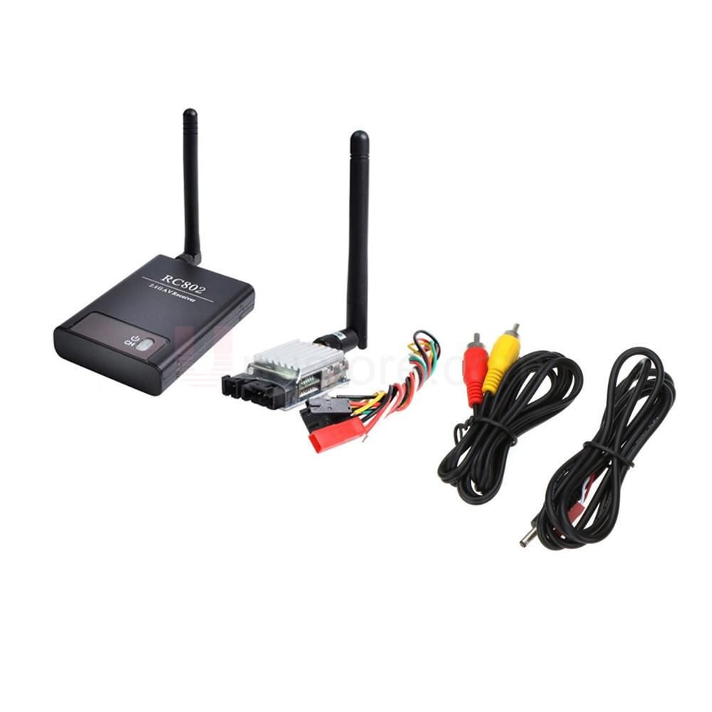 Boscam 2.4G 8CH 500mW Wireless AV FPV RC Transmitter Receiver TS321+RC802 boscam dv01s fpv 8 channel 5 8g wireless receiver dvr wireless audio