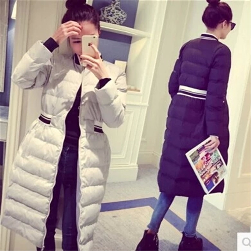 New Women Winter Coat Cotton Knee X-Long Jackets Female Overcoat Thick Padded Jacket Splice Parka Big Size Campera Abrigo LQ073 2017 long winter coats cotton padded women jackets luxury big faux fur collar coat thick hooded parka plus size 3xl abrigo mujer