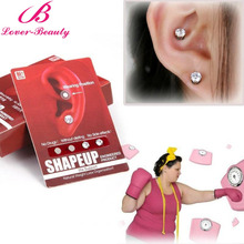 Lover Beauty 1 Pair Healthy Stimulating Acupoints Stud Earring Bio magnetic therapy weight loss earrings magnet ear slimming -E