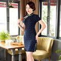 New Arrival Fashion Linen Cotton Mini Cheongsam Chinese Women's Dress Elegant Slim Qipao Vestidos Size S M L XL XXL XXXL 275836