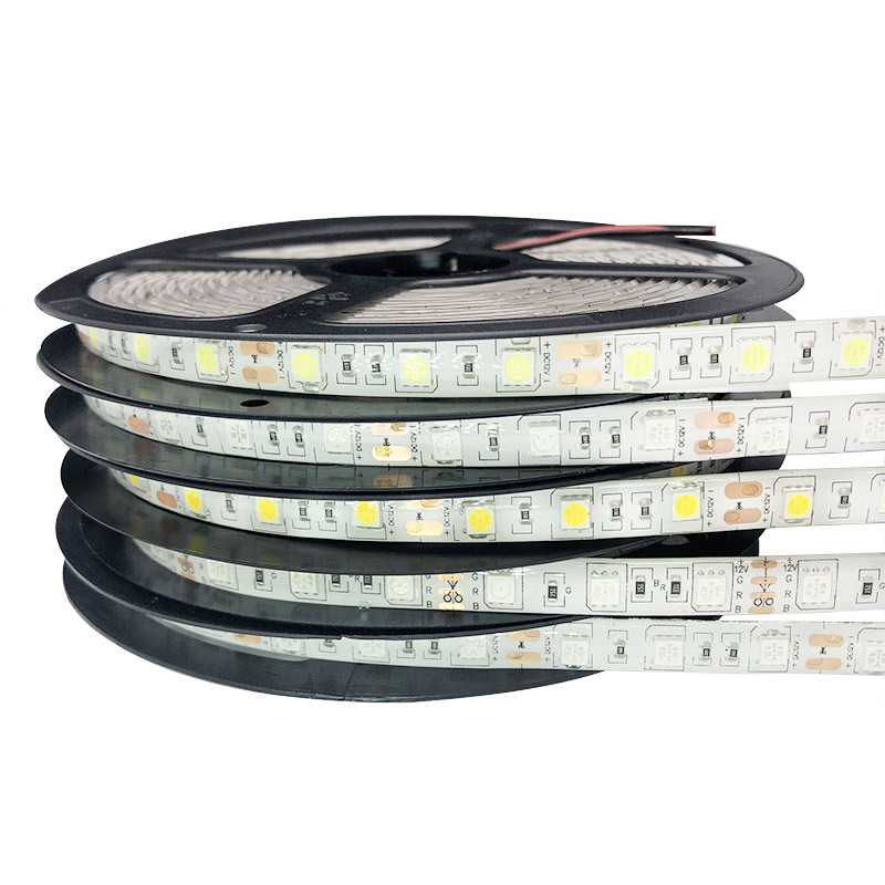 Waterproof 5050 RGB 5M Tape LED Ribbon LED Strip light 12V Flexible Home Decoration Lighting RGB/White/Warm White/Blue/Green/Red 5m dc12v waterproof led strip 5050 smd 60led m flexible led light white warm white red green blue rgb tape ribbon