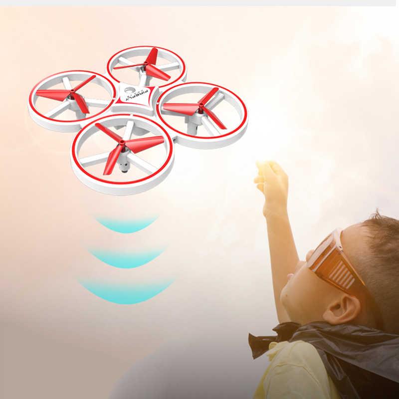 Vliegende Horloge Gebaar Helicopter UFO RC Drone Hand Infrarood flayaball Elektronische Quadcopter Interactieve Inductie dron Kinderen speelgoed