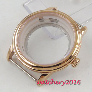 40mm parnis High quality Sapphire Glass Rose Golden hardened Newest HOT Watch Case fit ETA 8215 2836 miyota Movement|parnis 41mm|case case|parnis black -