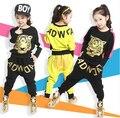 Comercios nueva primavera y el otoño conjuntos de ropa para niños niñas ropa deportiva tigre moda imprimir chaqueta y pantalones harem ocasional