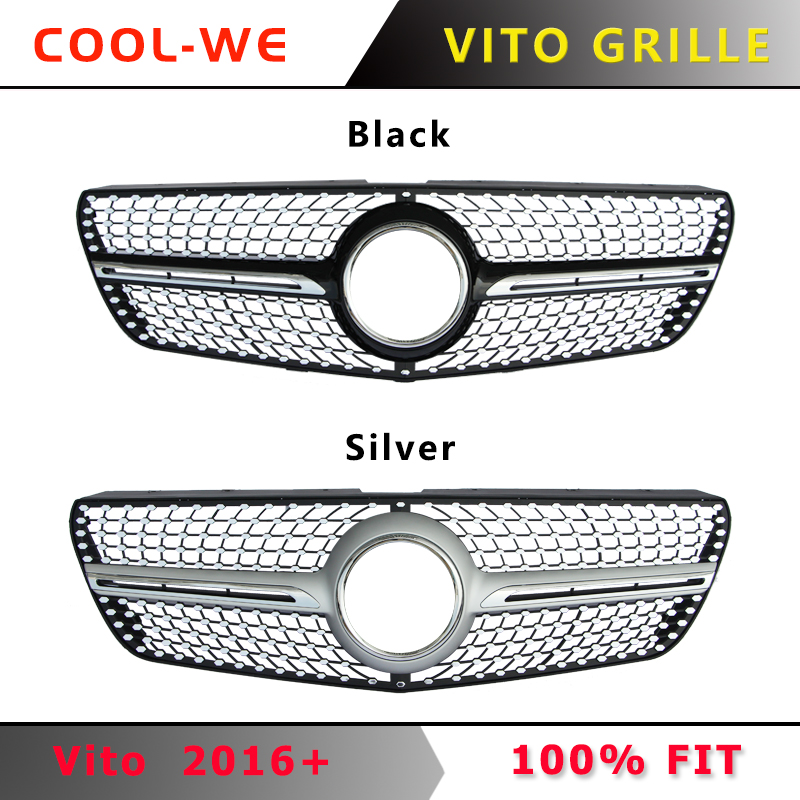 Suitable for Mercedes for Benz V Class W447 for New Vito Diamond Front Grill 2016+ image